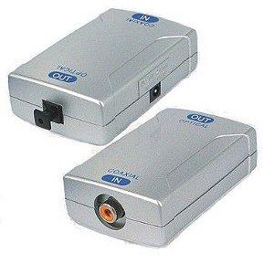 Adaptador Conversor Coaxial Digital para óptico digital qualidade  7.1