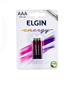 Pilha Recarregável AAA Blister c/2 Unidades Elgin