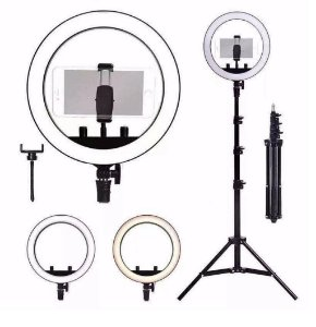Iluminador Ring Light para Fotografia Anel de Led 10 polegadas com Tripe 2 metros Make