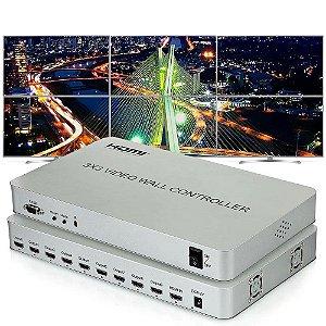 Controlador de Vídeo Wall 3x3 Premium - Hdmi