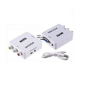 Conversor Av rca para VGA - ativo