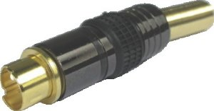 Plug Mini Dim 4 Pinos 6mm Svideo