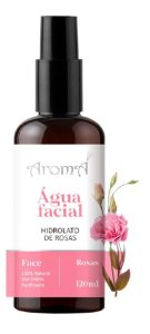 Água Floral Hidrolato Rosas Spray 120ml - Natural e Vegano