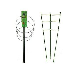 Estacas de Metal Revestidas FLOWER STAKE 3-Níveis para Sustentação de Plantas opção de 60cm e 90cm