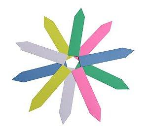 Etiqueta de Plástico Colorida para Marcação de Plantas 50 un