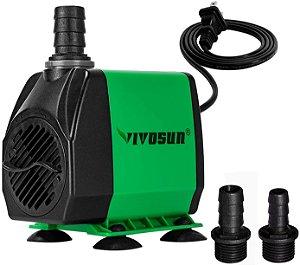 Bomba D'agua Submersa HIGH FLOW VIVOSUN opção 1800 L/H e 3000L/H - 110v