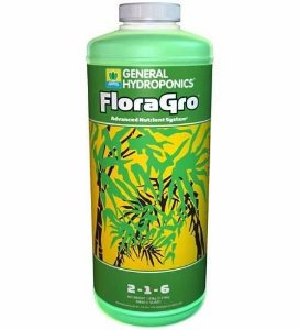 FloraGro Fertilizante Mineral Misto 3-1-7 General Hydroponics opção de 946ml e 3,79L