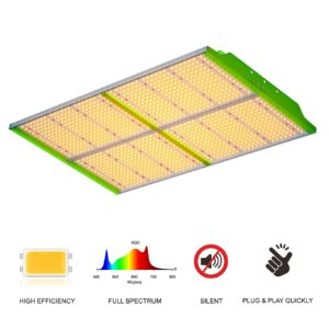 Painel de LED Quantum Board GROWPRO SUPER BRIGHT 400W SMD Horticultural Chips 3000K + Red 660nm- BIVOLT 110/220V