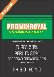 Substrato PROMIX ROYAL Orgânico Light 50L - Pré Micorizado = 12Kg