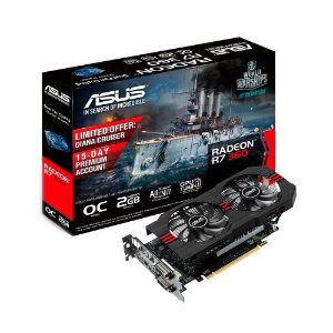 Placa de Vídeo AMD Radeon R7 360 OC 2gb DDR5 - 128 Bits ASUS  R7360-OC-2GD5