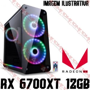 PC Gamer AMD Ryzen 5 5600X, 16GB DDR4, SSD 240GB, HD 1TB, GPU AMD RADEON RX 6700XT 12GB