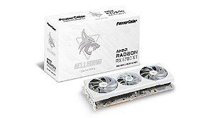 Placa de Vídeo PowerColor Radeon RX 6700 XT Hellhound WHITE, 12GB, GDDR6, 192bit, AXRX 6700XT 12GBD6-3DHLV2