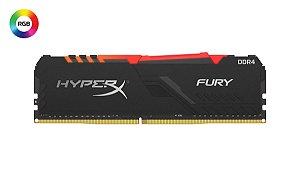 Memória P/ Desktop 32gb DDR4 - 2666 Mhz Kingston HyperX Fury RGB - HX426C16FB3A/32 (1X32gb)