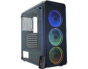 Gabinete ATX Gamer C/ Tampa Lateral em Acrílico, USB 3.0 Frontal, K-MEX CG-A2G8 - Infinity Streamer III