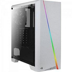 Gabinete ATX Gamer AEROCOOL CYLON BRANCO RGB C/ Tampa de Acrílico Lateral e USB 3.0 Frontal