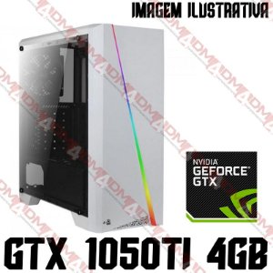 (RECOMENDADO) PC Gamer Intel Core i3 Coffee Lake 9100F, 8GB DDR4, SSD M.2 NVME 256GB, HD 3TB, GPU GEFORCE GTX 1050TI 4GB
