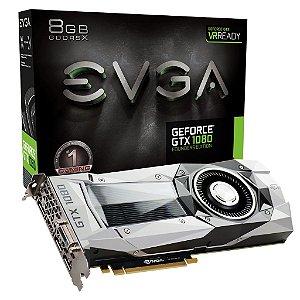 Placa de Vídeo Geforce GTX 1080 Founders Edition 8gb DDR5 - 256 Bits EVGA 08G-P4-6180-KR