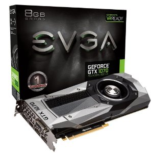 Placa de Vídeo Geforce GTX 1070 Founders Edition 8gb DDR5 - 256 Bits EVGA 08G-P4-6170-KR