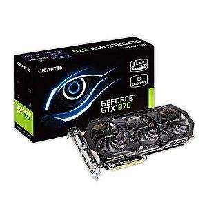 Placa de Vídeo Geforce GTX 970 OC 4gb DDR5 - 256 Bits Gigabyte WindForce GV-N970WF30C-4GD