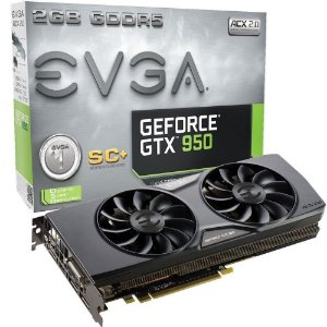 Placa de Vídeo Geforce GTX 950 SC+ 2gb DDR5 - 128 Bits EVGA 02-P4-2956-KR