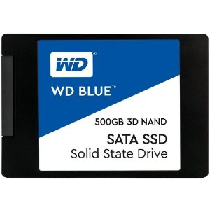 SSD Western Digital Blue, 500GB, SATA, Leitura 560MB/s, Gravação 530MB/s - WDS500G2B0A