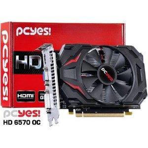 Placa de Vídeo AMD Radeon 6570 OC 4gb DDR3 - 128 Bits PCYES