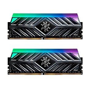 Memória 32GB DDR4 CL16 3000 Mhz ADATA SPECTRIX D41 RGB - AX4U300016G16A-DT41 (2X16GB)