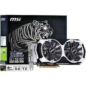 Placa de Vídeo Geforce GTX 970 OC 4gb DDR5 - 256 Bits MSI Armor GTX970-4GD5T-OC