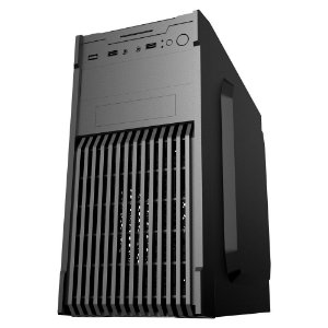 Gabinete Micro ATX 1 Baias Black C/ 2 USB Frontal e Fonte 200 Watts Inclusa