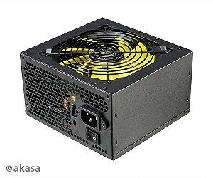 Fonte ATX 500 Watts Reais C/ PFC Ativo AKASA Viper Power 80% Plus Bronze AK-PA050AF07