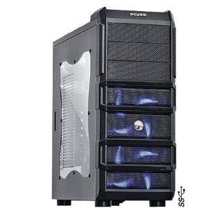 Gabinete ATX Gamer PCYES Rhino Black/Blue C/ Acrílico e USB 3.0