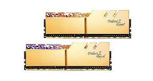 Memória G.Skill Trident Z Royal Elite, RGB, 64GB (2X32GB), 3600MHz, DDR4, CL16, Dourada - F4-3600C16D-64GTRG