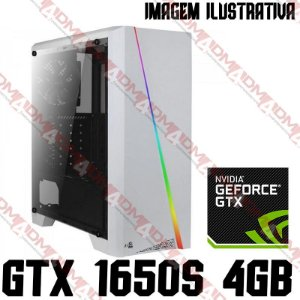 PC Gamer Intel Core i3 10105F, 8GB DDR4, SSD 480GB, GPU GEFORCE GTX 1650 SUPER 4GB