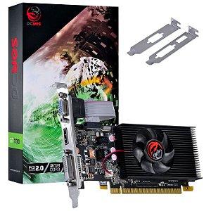PLACA DE VIDEO NVIDIA GEFORCE GT 730 2GB DDR3 64 BIT LOW PROFILE COM KIT INCLUSO - PA7302DR364LP