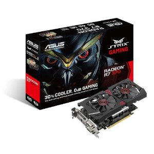 Placa de Video AMD Radeon R7 370 Strix 4gb DDR5 - 256 Bits ASUS R7370- DC2OC-4GD5