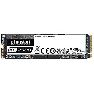 SSD Kingston KC2500, 500GB, M.2 NVMe, Leitura 3500MB/s, Gravação 2500MB/s - SKC2500M8/500G