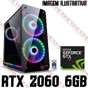 (Recomendado) PC Gamer Intel Core i7 Coffee Lake 9700KF, 16GB DDR4, SSD NVME 256GB, HD 1TB, GPU GEFORCE RTX 2060 OC 6GB