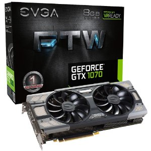 Placa de Vídeo Geforce GTX 1070 FTW Gaming 8gb DDR - 256 Bits EVGA 08G-P4-6276-KR
