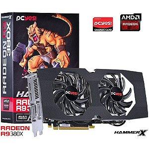 Placa de Vídeo AMD Radeon R9 380X HammerX 4gb DDR5 - 256 Bits PCYES PH380X25604D5OC