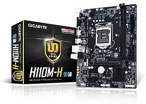 Placa Mãe Gigabyte H110M-H DDR4 P/ Intel Socket LGA 1151