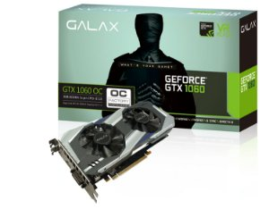 Placa de Vídeo Geforce GTX 1060 OC Dual Fan 3gb DDR5 - 192 Bits Galax 60NNH7DSL9C3