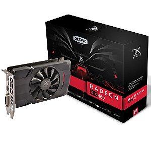 Placa de Vídeo AMD RX 460 - 2gb DDR5 - 128 Bits XFX RX-460P2SFG5