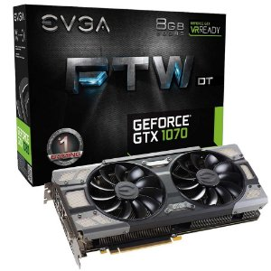 Placa de Vídeo Geforce GTX 1070 FTW FTW DT Gaming ACX 3.0 8gb DDR5 - 256 Bit EVGA 08G-P4-6274-KR