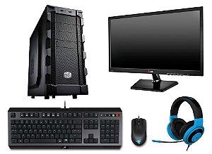 PC Gamer Super Completo AMD FX 8320E, 8gb DDR3, HD 1.5TB, AMD Radeon RX 460 2gb, Kit Cyclosa, Kraken Neon, Goliathus Speedy