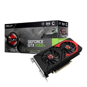 Placa de Vídeo Geforce GTX 1050TI OC 4gb DDR5 - 128 Bits Gaming PNY VCGGTX1050T4XGPB-OC