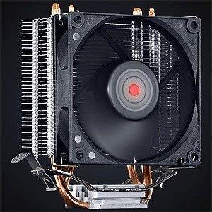 Cooler Para Processador Universal Intel e AMD Fan 80 MM PCYES Zero K Z1 Preto ACZK180