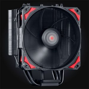Cooler Para Processador Universal Intel e AMD Fan 120 MM PCYES Zero K Z4 LED RED ACZK4120