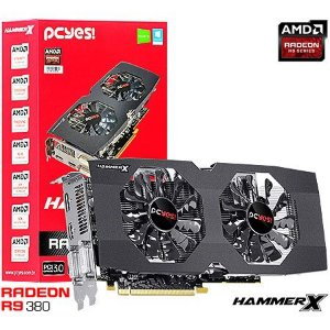 Placa de Vídeo AMD Radeon R9 380 HammerX 2gb DDR5 - 256 Bits PCYES PH38025602D5OC