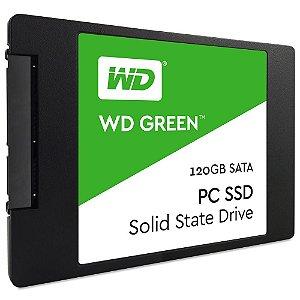 SSD 120gb Sata 6gbs Western Digital Green Leituras: 540MB/s e Gravações: 430MB/s - WDS120G1G0A