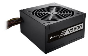 Fonte ATX 600 Watts Reais C/ PFC Ativo Corsair VS600 80% Plus White CP-9020224-BR